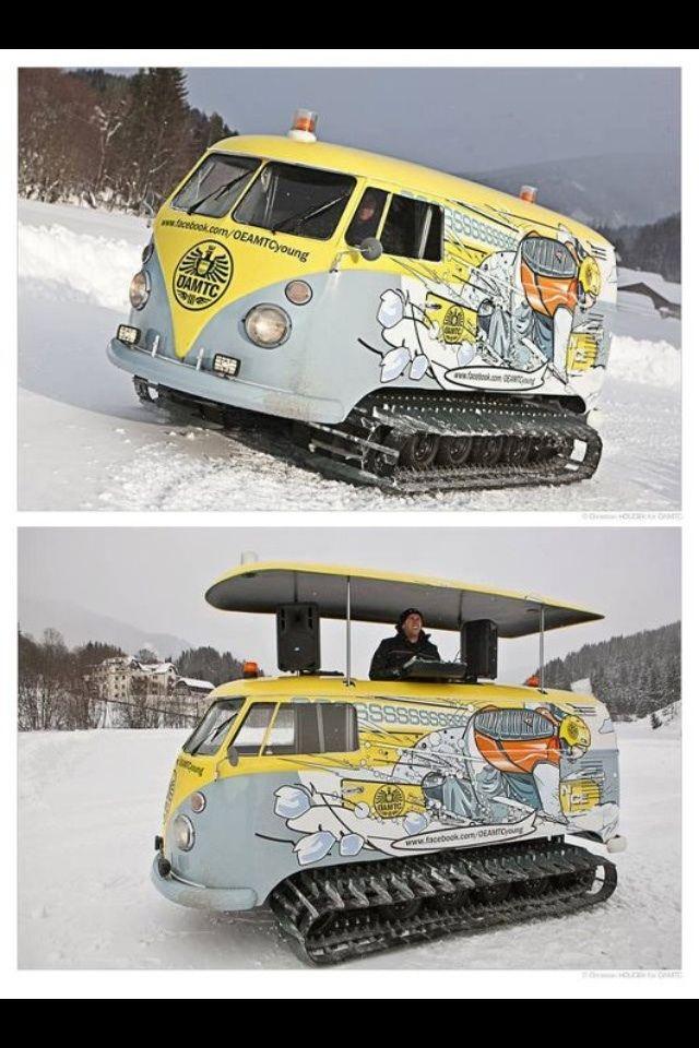 VW Snowcat/DJ Booth | quiero una de estas |