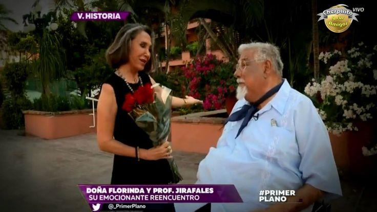 Último encuentro del Profesor Jirafales con Doña Florinda.