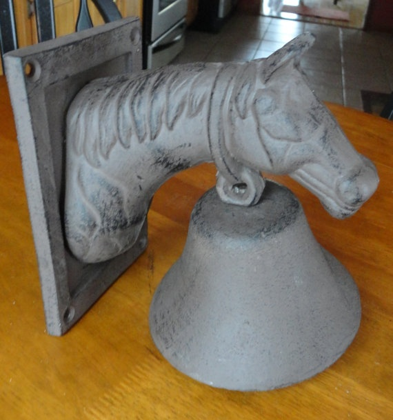 Vintage Cast Iron Horse Bell by tennesseehills on Etsy, $18.00