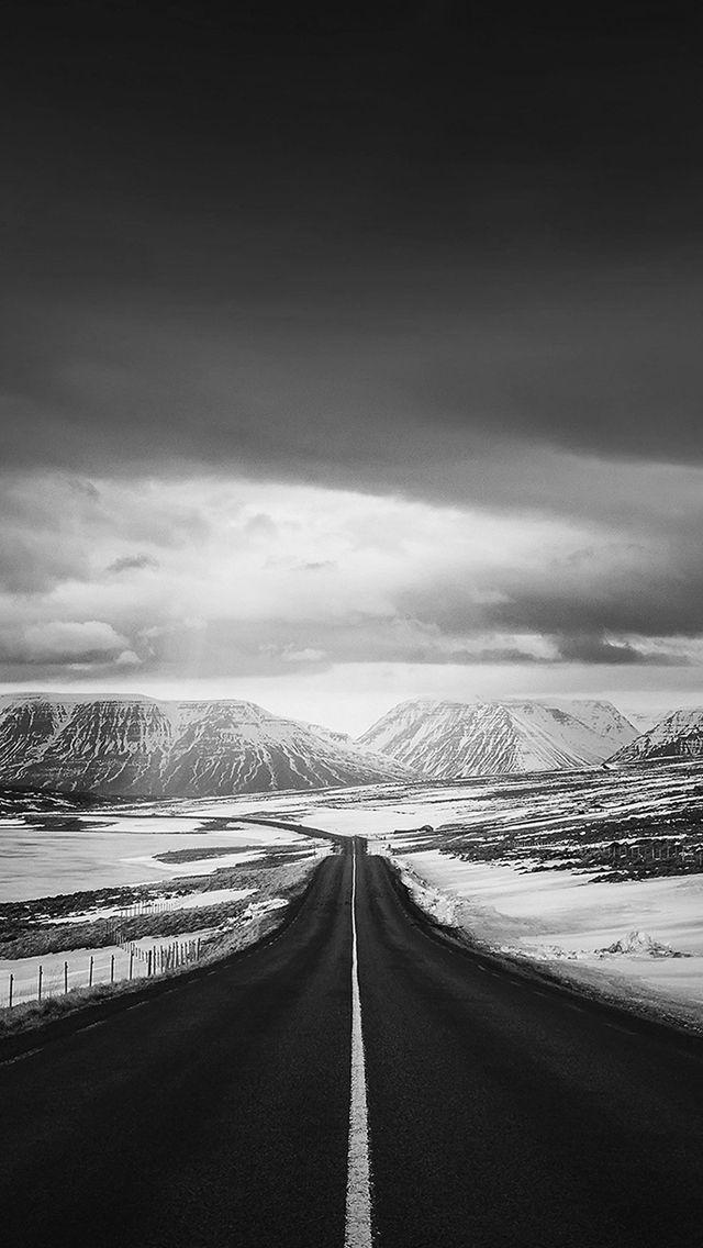 Road To Heaven Snow Mountain Dark Nature Winter #iPhone #5s #wallpaper