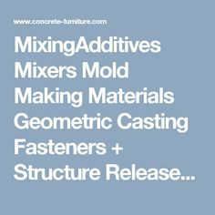 MixingAdditives Mixers Mold Making Materials Geometric Casting Fasteners + Structure Releases Filling The Form Non Marking Base Sealing Previous: How To Home Next: Additives Cement Mix Ratio: Share | A bag of ready mix is a blend of sand, aggregate (rock) and Portland cement combined together to make concrete. Ingredients are cheap with the exception of the portland cement. It makes sense that a profit driven company would skimp on that one ingredient since it costs the most. I always add…