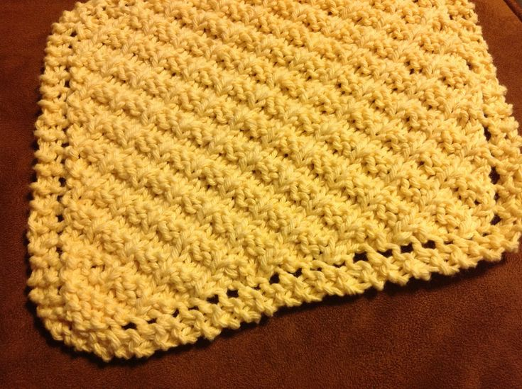 Waffle Knit Dishcloth Pattern : 17 Best images about Grandmothers Washcloth patterns on Pinterest Gran...