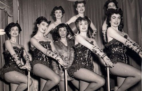 The Mayfairs with Lola in the middle - probably the light comedy relief.. she loved comedy.