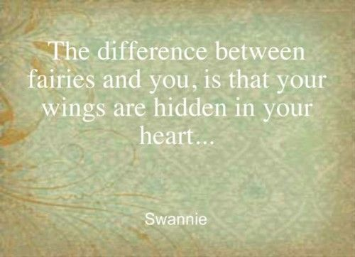 wings are hidden in your heart ...