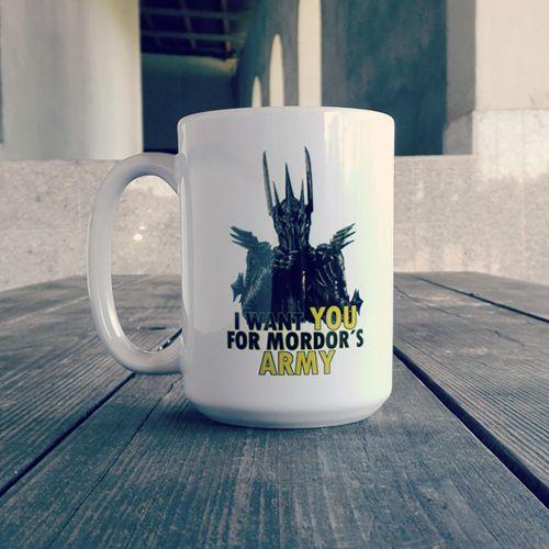 """Kubki """"Mordor's Army"""" idealne na krzepiącą kawę przed wyprawą do Mordoru! #tolkien #lotr #lordofthering #lord #of #the #rings #sauron #hobbit #othertees #mug #coffee"""