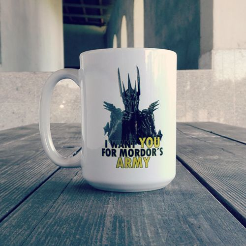 "Kubki ""Mordor's Army"" idealne na krzepiącą kawę przed wyprawą do Mordoru! #tolkien #lotr #lordofthering #lord #of #the #rings #sauron #hobbit #othertees #mug #coffee"