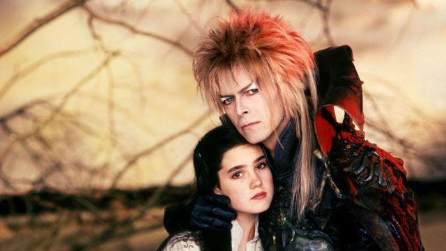 Bowie dans Labyrinth (1986), de Jim Henson. Le film n'est pas fameux, le look non plus. (capture d'écran)