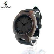 BOBO BIRD I11 Nature Ebony Wooden Mens Watch Top Brand Luxury Brand Design Irregular Shape Quartz Wristwatch As Gift Relogio OEM(China (Mainland))