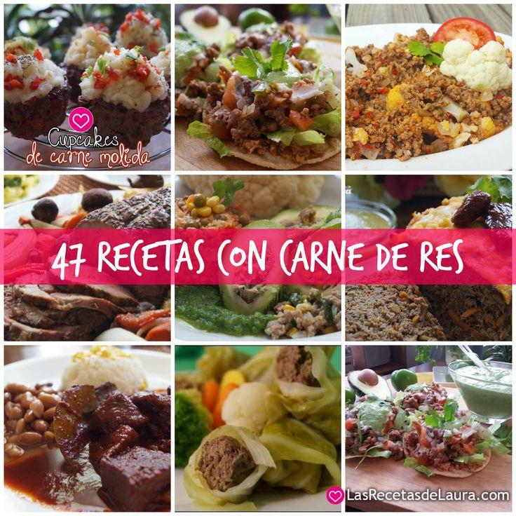 23 best Recetas con Carne de Res images on Pinterest | Healthy meals ...