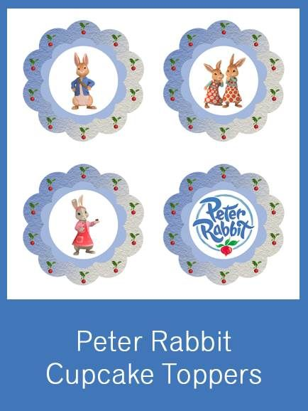 Peter Rabbit Cupcake Toppers Free Pdf Download Party