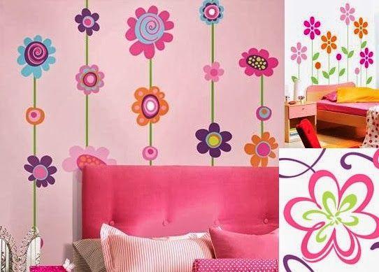 Decoraci n de las paredes del dormitorio infantil for Adhesivos neveras decoracion