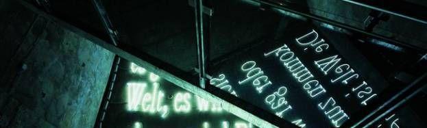L'art immatériel de la Lumière - Joseph Kosuth, Signatur der Wortes (signature des mots), 2001, technique mixte et dimensions variables (ZENTRUM FÜR INTERNATIONALE LICHTKUNST UNNA. PHOTO : WERNER J. HANNAPPEL, ESSEN).