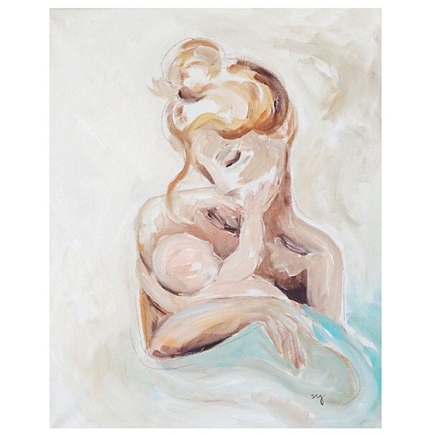A mother's love is like no other. Inspired by Picasso's mother and child sketch.