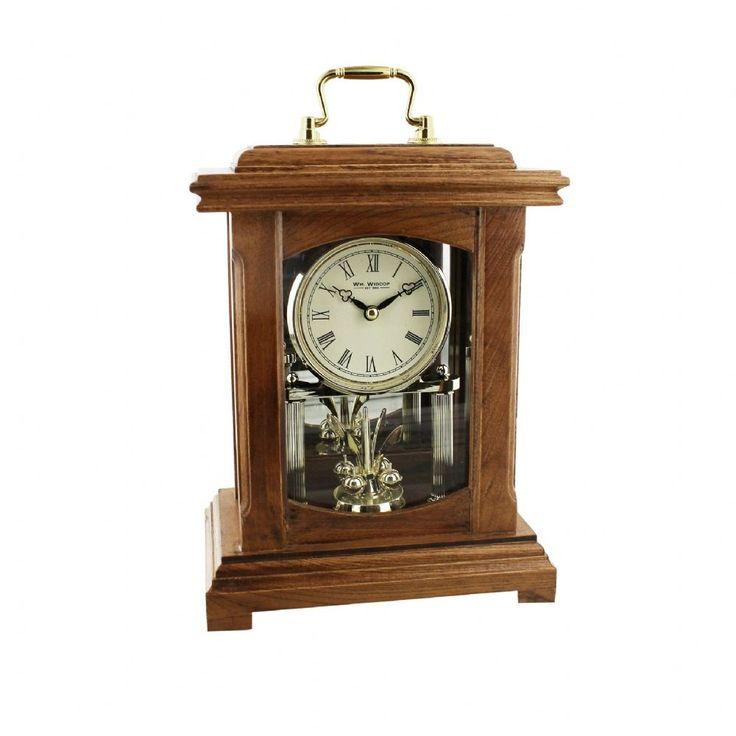 Beautiful Rustic Black Mantel Clock Roman Dial Oblong Shaped Mantel Clock Large Mantel Clock Width 25cm Height 37cm Depth 6cm 1 year