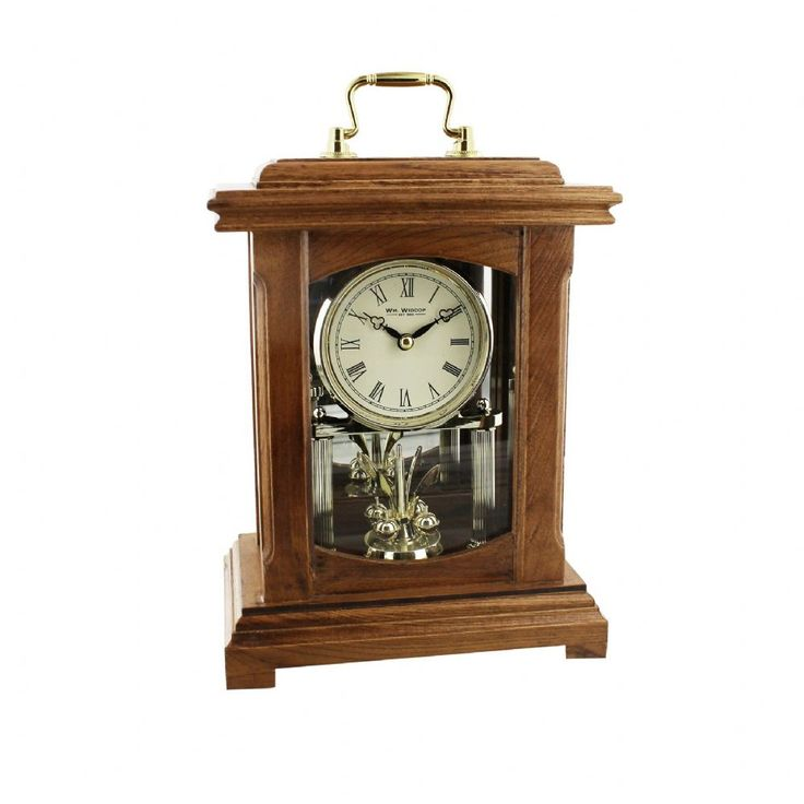 Beautiful Rustic Black Mantel Clock Roman Dial Oblong Shaped Mantel Clock Large Mantel Clock Width 25cm Height 37cm Depth 6cm 1 year