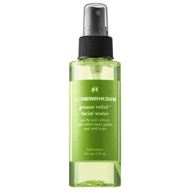Face Mists Can Help Control Oil Production -  (Ole Henriksen Grease Relief Facial Water). If you thought powder and blotting sheets were your only options for mattifying throughout the day, think again. There are face mists that absorb excess oil while providing light hydration.