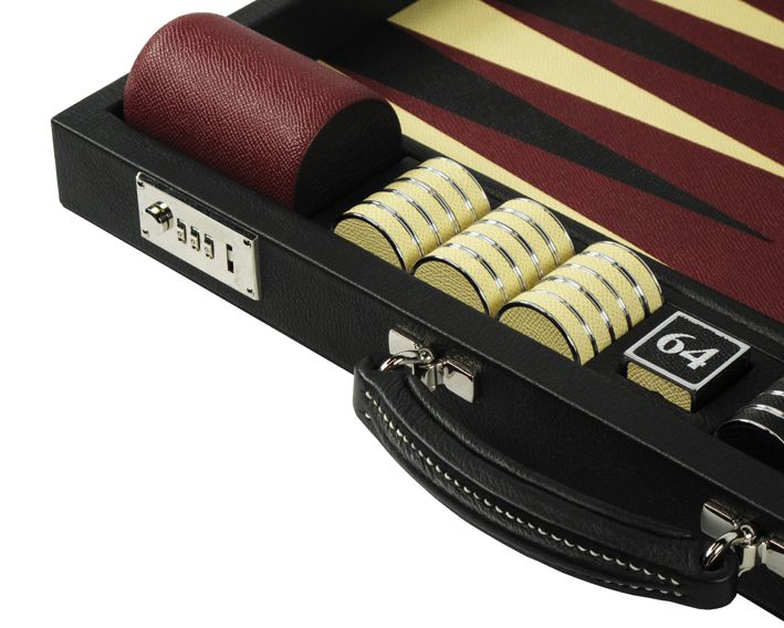 Looking strong in black, our contemporary challenge size backgammon is the ultimate set #luxury #bespoke #custom #games #backgammon #leather #luxurygoods #design #style #contemporary #leathergoods #inlay #backgammonset