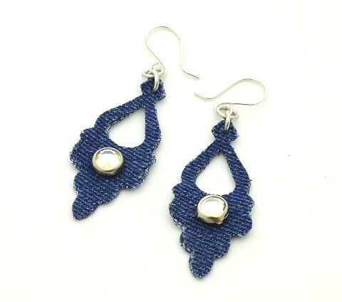 How to Make Die-Cut Denim Earrings Tutorial - The Beading Gem's Journal