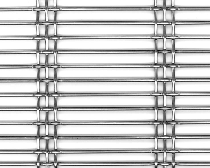 HAVER Architectural Wire Mesh DOGLA-TRIO 1033 made of stainless steel. Open area: ~ 67%   Main applications: Façade, Ceiling, Balustrade   Manufacturer: HAVER & BOECKER