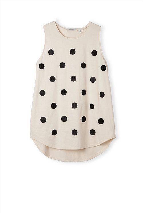 Embroidered Spot Tank