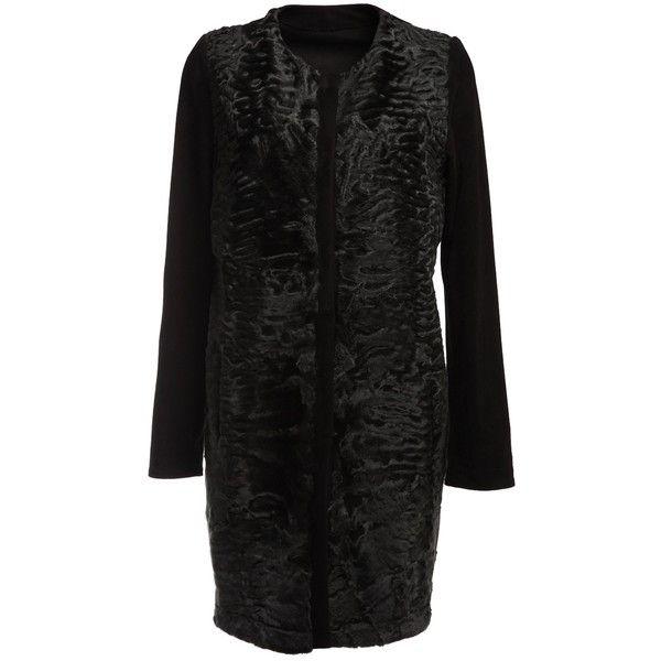 YVES SALOMON karakul lamb fur coat ($7,945) ❤ liked on Polyvore