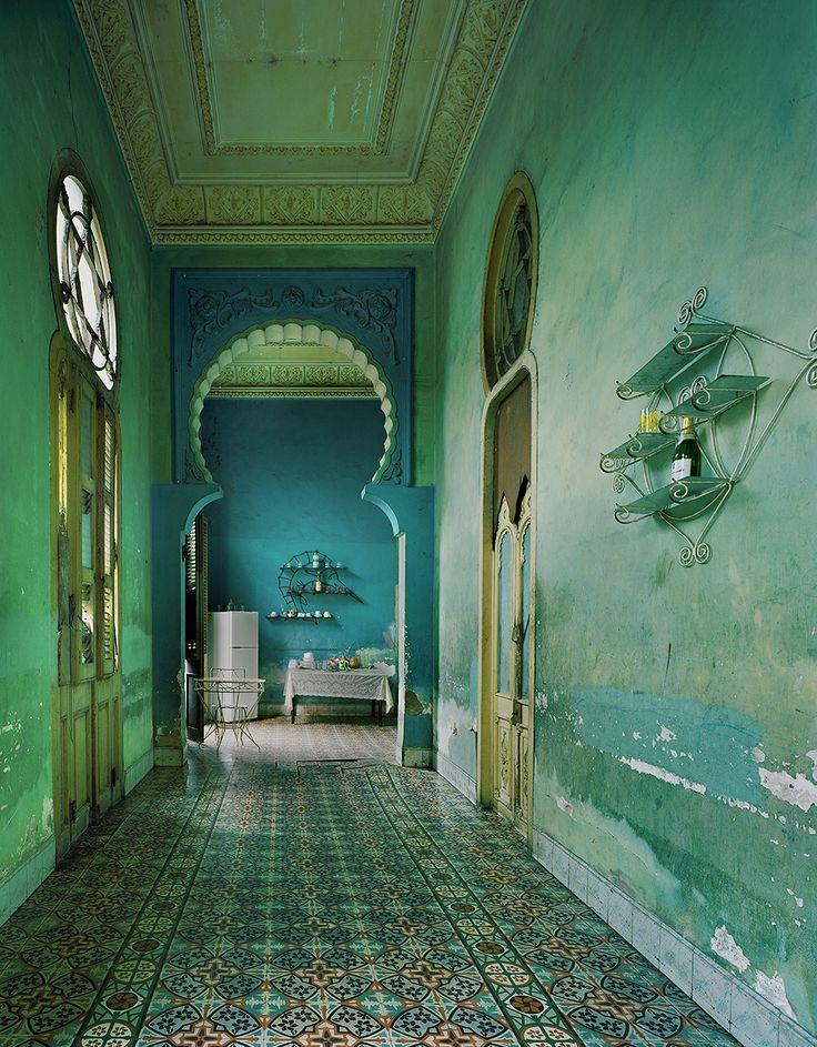 Michael Eastman (American, b. 1947, St. Louis, MO, USA) - 1: Green Interior, Havana,