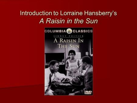 A raisin in the sun feminist