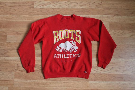 Roots Sweater 80s Roots Canada Sweater Red by MileZeroVintage