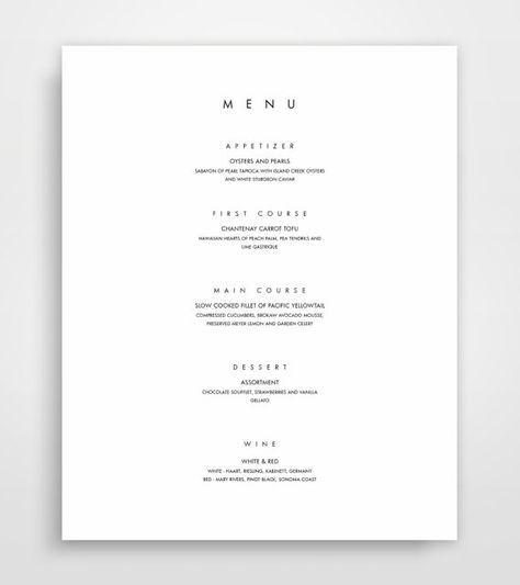 Plantilla de menú, menú para imprimir, menú moderno, minimalista menú instantánea descargar, diseño de menú, plantillas de menú elegante, diseños de menus