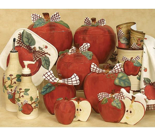 Blonder Home Country Apple Kitchen Accessory Collection