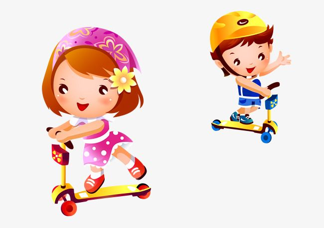 Colored Cartoon Vector Illustration Children Playing Scooter Scooter Clipart Cartoon Vector Children Vector Png Transparent Clipart Image And Psd File For Fr Cartoons Vector Children Illustration Cartoon Kids