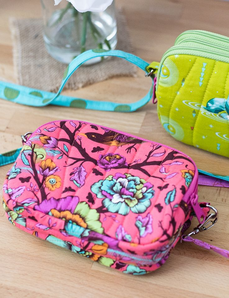 Triple Zipper Bag – Free Sewing Pattern with a Tutorial!