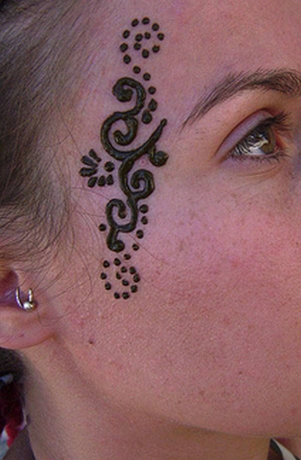 Henna Face Tattoo: I LOOOVE Facial Mehndi! AHHHH! Can't Get Enough Of It