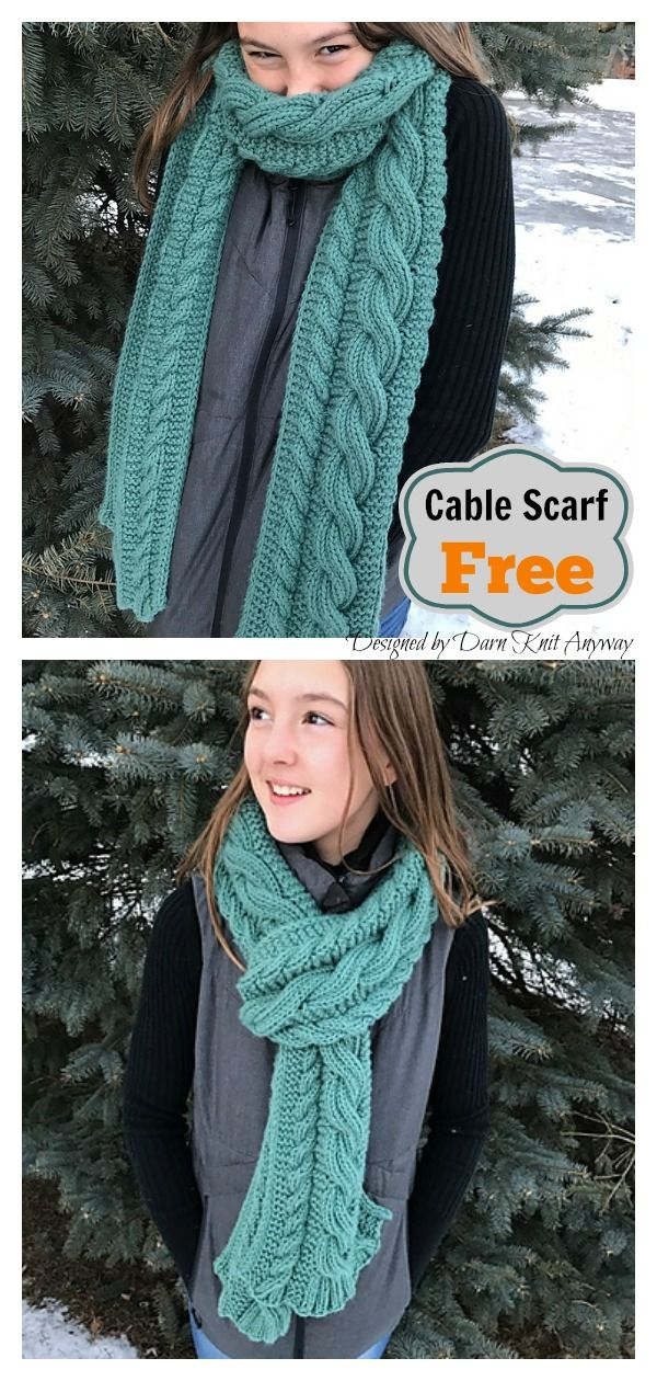Cable It Up Scarf Free Knitting Pattern  #freeknittingpattern #scarfpattern #cab…