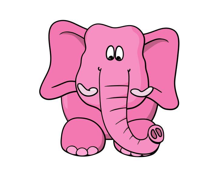 Lembar Kerja Menulis Huruf Belalai Gajah