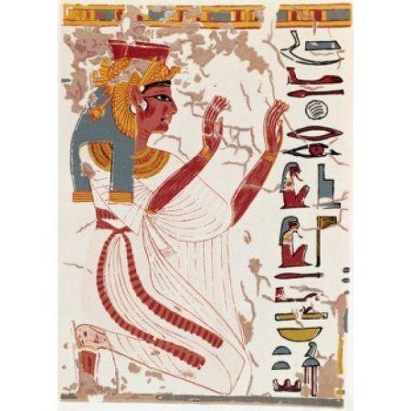 Egypt Thebes Valley of the Queens Nefertiti Tomb Nefertiti 1300-1200 BC Canvas Art - (24 x 36)