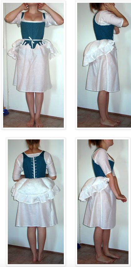 bum pad for 1770s and 1780s skirt shaping um ok I made one it makes my dress hang funny..yet the pattern for the petties and skirt is no dif then the dress I alpedy have what am I doing wrong here? any sugestions?