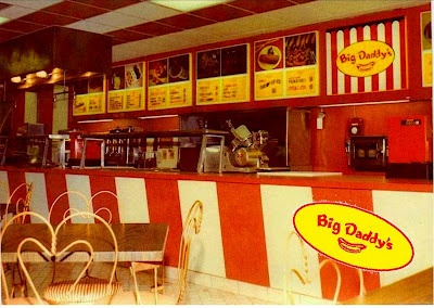 big daddys restaurant-used to be located on coney island avenue in sheepshead bay brooklyn-sold hot dogs, burgers and fries-my dad took us there when i was a kid.   photo courtesy of kineticcarnival.blogspot.com