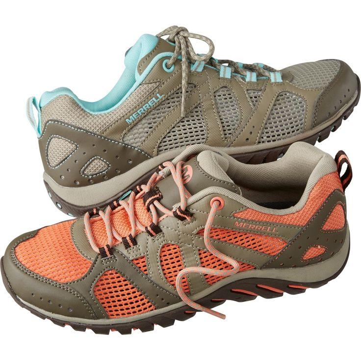 Merrell Gray Lavender Pink Nylon Mesh Walking Casual Hiking Trail Shoes Women 10