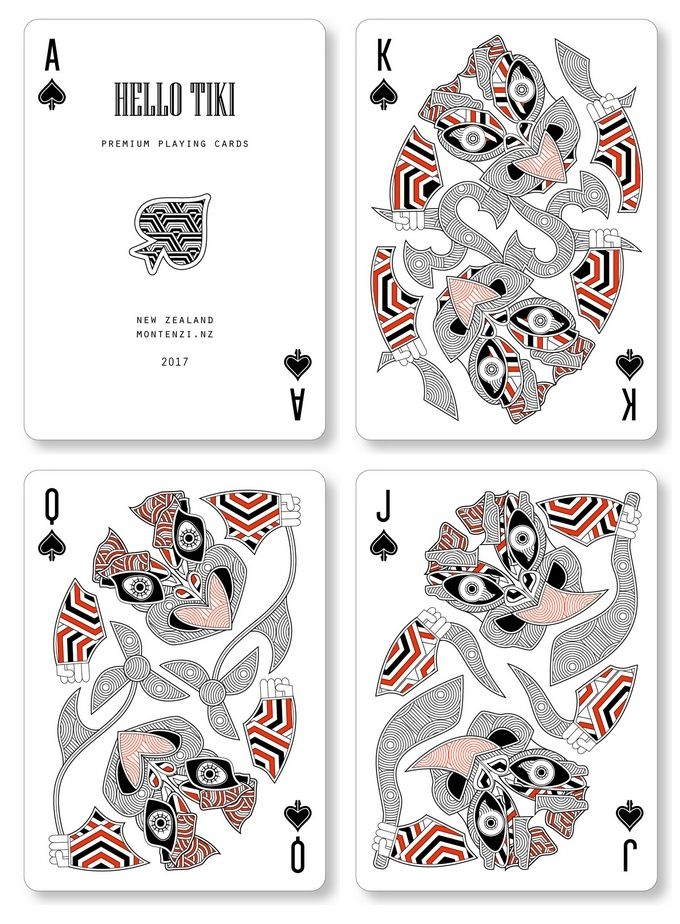 HELLO TIKI -- Two custom decks of playing cards designed in New Zealand. 15 days only on Kickstarter.