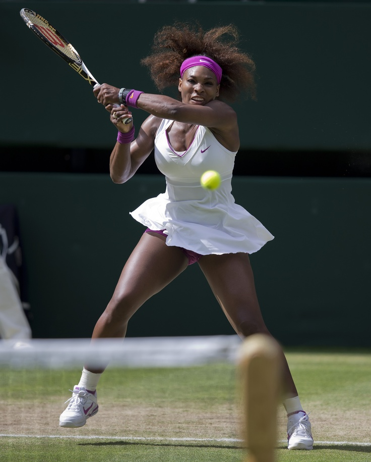 Serena Williams (Washington Kastles) during her semifinal match against Victoria Azarenka at the 2012 Wimbledon Championships.