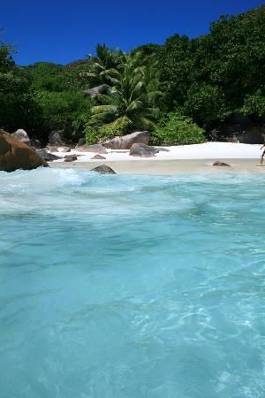 The beach of Anse Lazio, Praslin Island, Seychelles