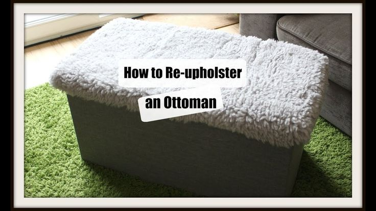 How to Re-upholster an Ottoman Lid - Ikea Hack