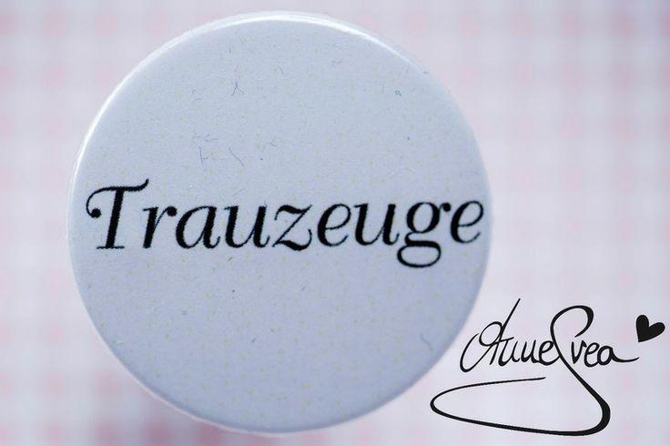 TRAUZEUGE Anstecker Hochzeit Button Best  Man cool von www.annesvea.de