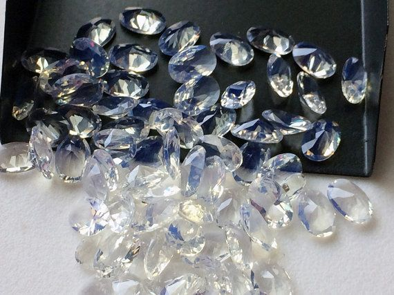 WHOLESALE 20 Pcs Fire Opalite Stones Opalite Oval by gemsforjewels