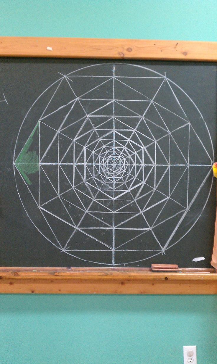 Age 12 ~ Geometric Drawing ~ Nesting Turning Hexagons ~ construction
