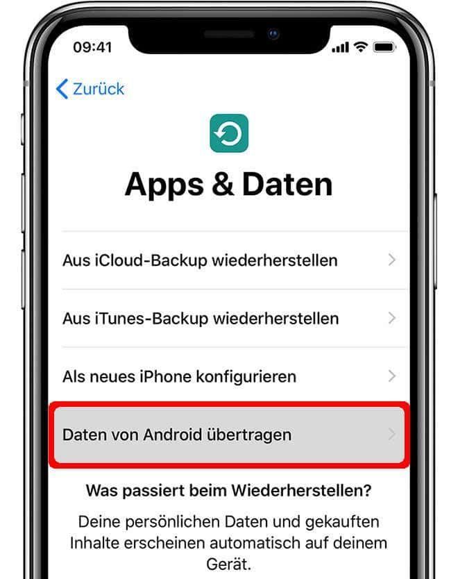 Kontakte Und Daten Von Iphone Auf Android Ubertragen Android Iphone Google Konto
