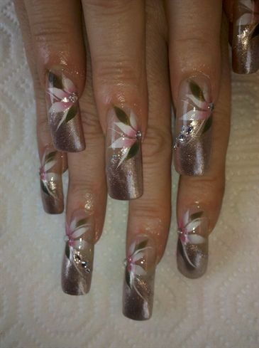 Soft, Spring airbrush  by janetquiroz - Nail Art Gallery nailartgallery.nailsmag.com by Nails Magazine www.nailsmag.com #nailart