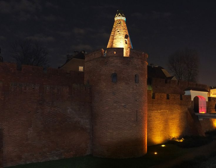 The Old Town: Barbican of Warsaw which was completed in 16th cent AD. Warsaw