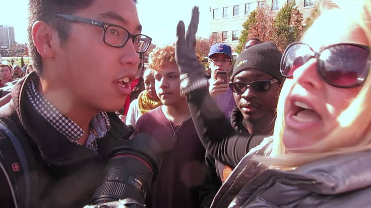 Clash between media and ConcernedStudent1950 (full) (see the whole video and absorb the whole danger of these campus cultural terrorists)